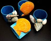 Seashell Napkin Rings- Set of 4