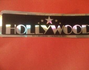 Vintage Hollywood bumper sticker