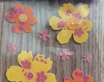 Floral multipack stickers