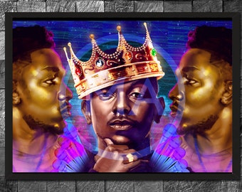 King Kendrick Lamar, k - Dot,  Hip Hop Poster Rapper Art Home Decor