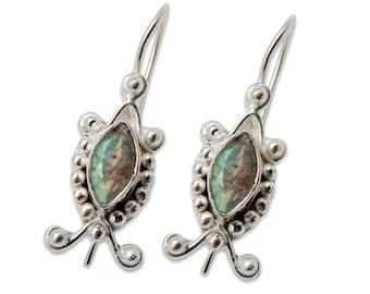 Labradorite Silver-plate Earrings