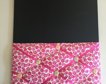Fabric noticeboard/blackboard