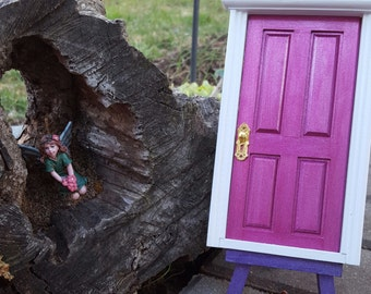 Shimmery Magenta Tooth Fairy Door Loose Tooth Faeries Fairy Realm