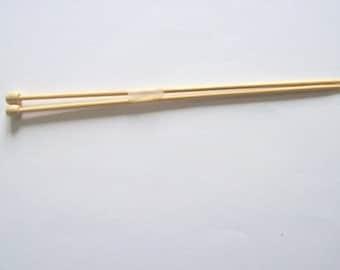 knitting needles 4mm pair of bamboo knitting pins, UK size 8