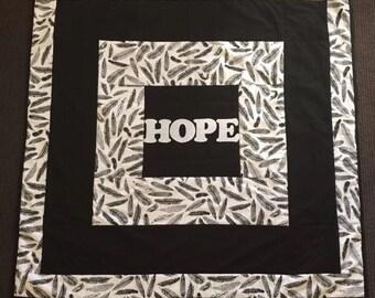 Lap size HOPE quilt