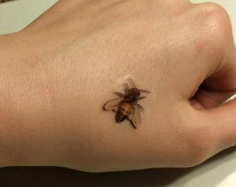 Honey Bee tattoo realistic honey bee tattoos temporary tattoo fake tattoos