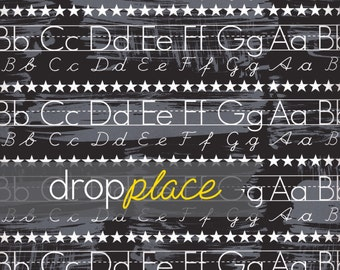 Back to School Backdrop Chalkboard Alphabet Photography Background Photo Prop Kids drop (Multiple Sizes Available)