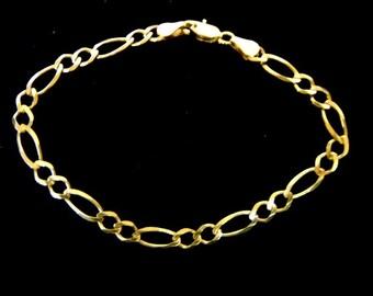 Vintage Estate 10k Gold Link Bracelet 3.1g E2213