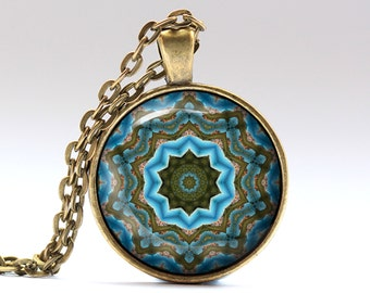 Hippie jewelry Boho pendant Estorecil necklace OWA624