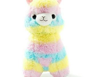 Pastel Rainbow Alpaca Soft Toy