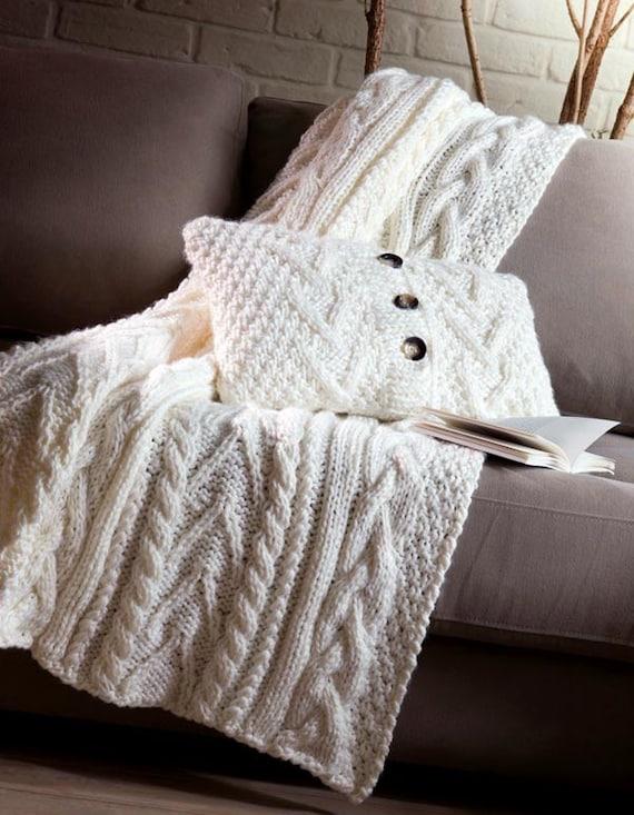 Shetland chunkyCable Knit Pillow Cover plaid ?? AlisaSonya