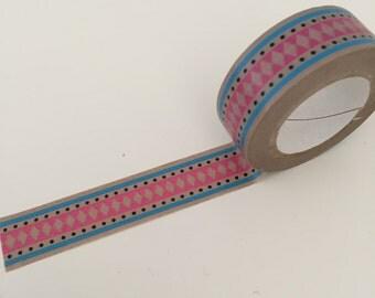 Dovecraft Washi Adhesive Tape Decorative Kawaii ~ Mash Up Pink Aztec ~ 8 metres