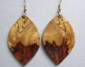 Unique Khamphi Rosewood Large Earrings ExoticWoodJewelryAnd handcrafted ecofriendly
