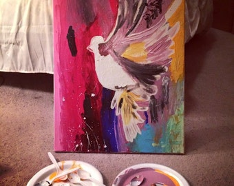 Bird abstract painting