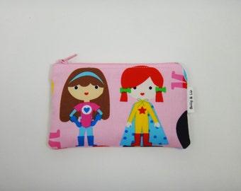Super Girls Wallet, Kids Wallet, Kids Coin Purse, Toddler Wallet, Children's Wallet, Coin Pouch
