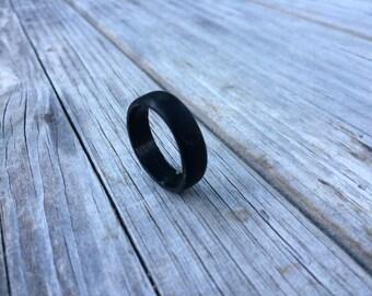 Ebony Wooden Wedding Ring, Wooden Engagement Ring, ebony ring, wooden ring, promise ring, size 12.5