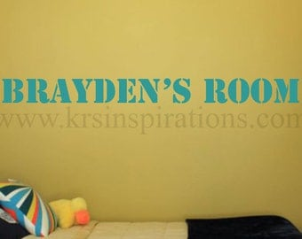 CUSTOM NAME/WORD Stenciled Font Wall Decal