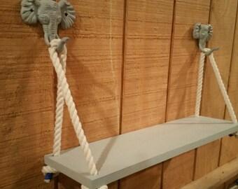 Safari Nursery Shelf/Elephant Shelf/ Jungle Nursery/Swing Rope Shelf / Rope Shelf / Safari Shelf / Swing Shelf