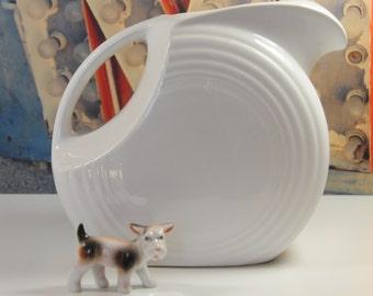 Vintage Fiestaware  Disc Pitcher in White