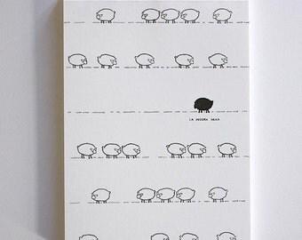 Black sheep - laPecoraNera, block-notes