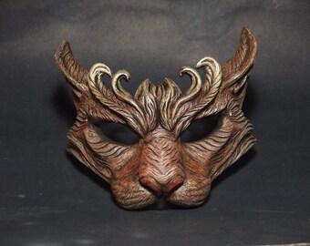 Unpainted Cat masquerade mask
