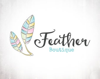 Premade Logo Design • Native Feathers