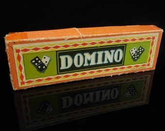Table Game, collectible, vintage DOMINO Game, complete in original box