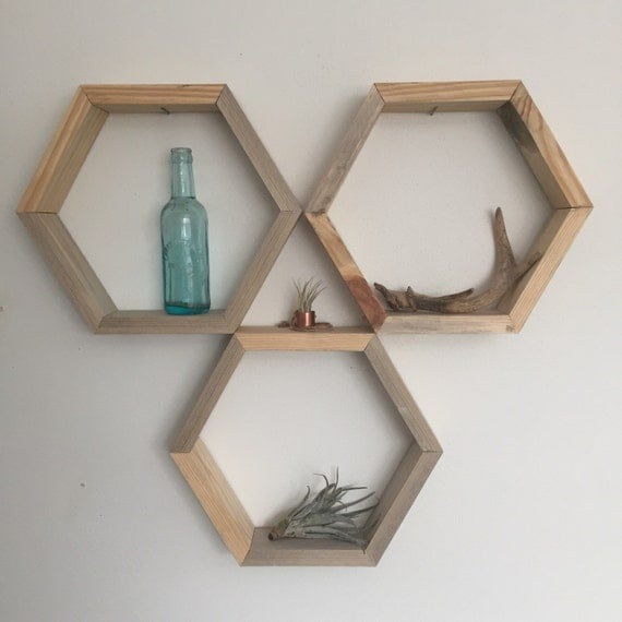 Honeycomb Shelf Reclaimed Wood Smooth Finish By Endrowdesignco