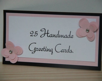 25 Greeting Cards. Set of Handmade Cards.  Handmade Card Stationery Gift Set.  Greeting Card Set.  Blank Greeting Card.  Birthday, Sympathy