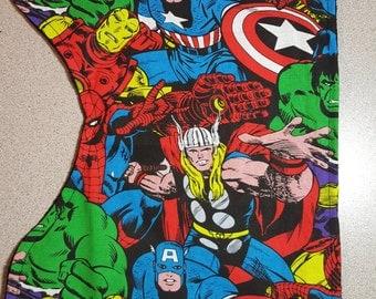 Avengers Burp Cloth / Contoured / Minky / Baby Boy Girl Shower Gift / Gender Neutral / Marvel /  Hulk / Iron Man/ Thor / Captain America