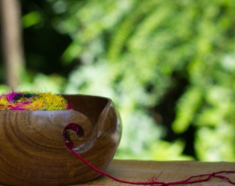 Handmade Wooden Yarn Bowl (Now 50% off!)
