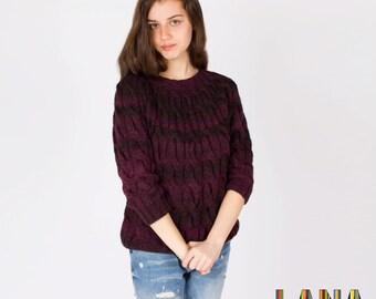 Stylish  sweater, hand knitted sweater, warm  sweater