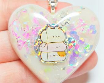 Super Kawaii Fluffy Marshmallow Cuties Pastel Fairy Kei Necklace!