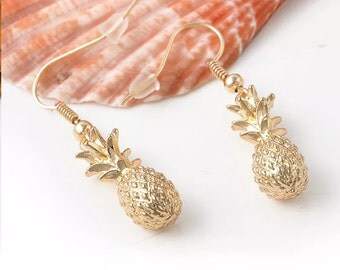 Pineapple Dangle Earrings / Fertility Pineapple hook earrings