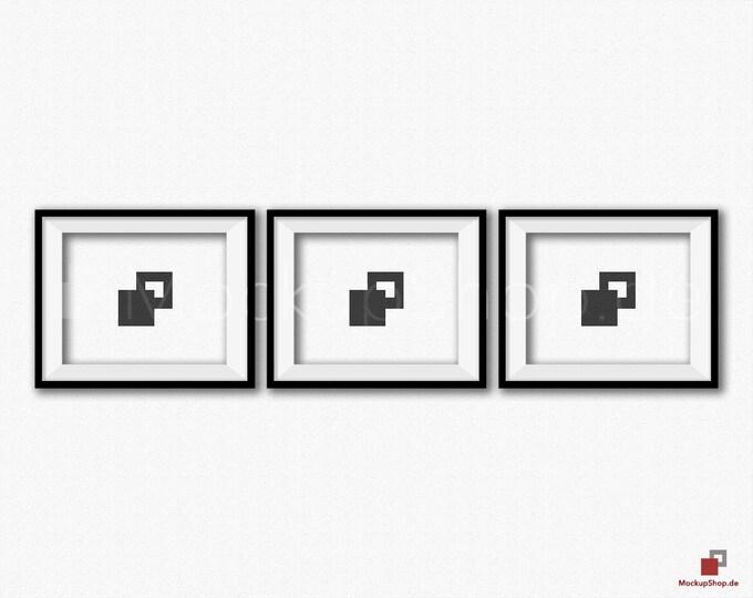 BLACK FRAME MOCKUP 8x10, Set of 3, Frame mockup, Empty Frame, Styled Stock Photography, Product Background Mockup, black frame mockup