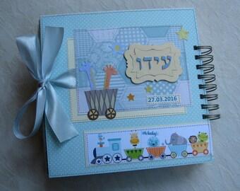 Baby album, Personalised Baby Boy Photo Album, Baby's First Year Memory Book