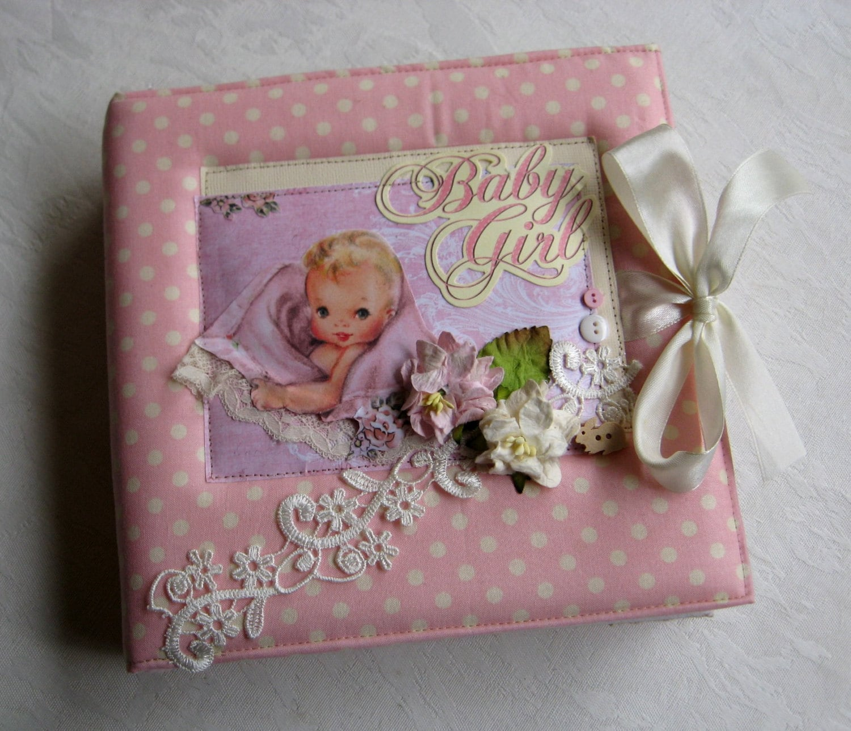 Baby Scrapbook Album Personalised Baby Girl Scrapbook Photo