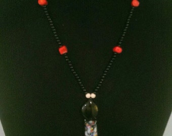 Necklace tassel Red