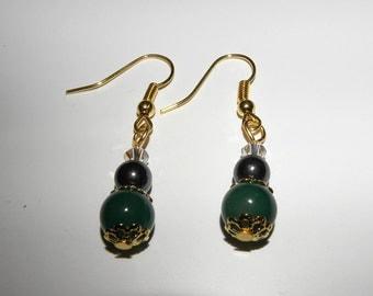 1 pair of gemstone beads earings