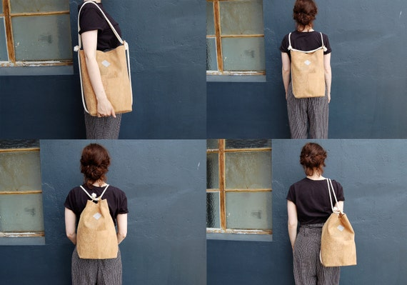vegane tasche clari rucksack kork brauner rucksack von. Black Bedroom Furniture Sets. Home Design Ideas