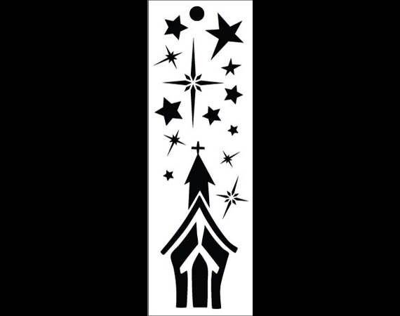 "Holy Night Bookmark Art Stencil - 6"" x 2"" - STCL905 by StudioR12"