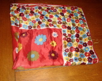 Floral 26 and 1/2 inch handkerchief
