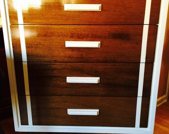 SOLD- Set of Dressers- Mid Century Modern- Redesigned