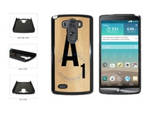 Monogram Wooden Letter A Phone Case - LG G3 G4 Nexus 5 6 Sony Xperia Z1 Z4 HTC One M7 Moto G