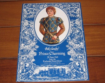 1987 Peck Gandre Presents Prince Charming Paper Doll Set - Enchanted Forest Series (Uncut)
