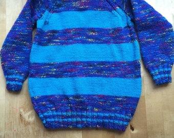 Hand knitted  round neck jumper size 24