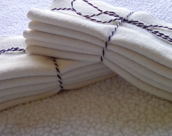 Clearance Organic terry cloth wipes. Cloth diapering, family cloth