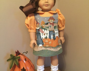 "Fall jumper with blouse for the American girl or 18"" doll"