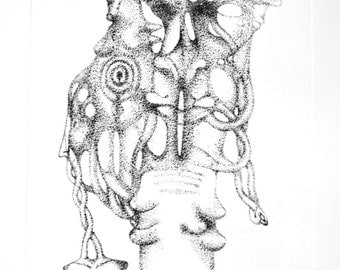 etching ink  single body anamotie upside mystical surreal dream psychedelic psychological workshop of handmade Pinterie