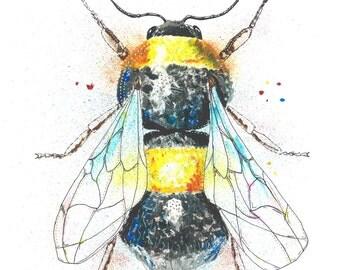 Sam Fellman Art painting Magnet Bee (A6)